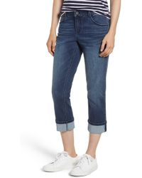 Wit & Wisdom - Stretch Cotton Cuffed Jeans (nordstrom Exclusive) - Lyst