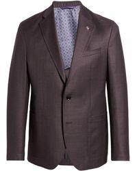 Ted Baker Kyle Trim Fit Solid Wool Sport Coat - Multicolor