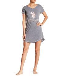 U.S. POLO ASSN. - Pajama Shirt Dress - Lyst