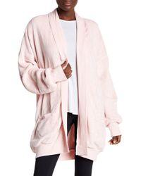 Hue - Solid Plush Cardigan Robe - Lyst