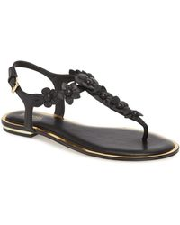 6f731e473 Lyst - MICHAEL Michael Kors Tricia Metallic Floral Thong Sandals in ...