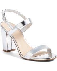 BP. Lula Block Heel Slingback Sandal - Metallic
