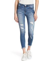 Jolt - Distressed Rolled Skinny Jeans - Lyst