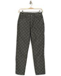 Ksubi Slim Pin Monogram Cropped Pants - Black