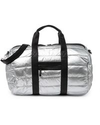 Urban Expressions Metallic Quilted Puffer Duffle Bag