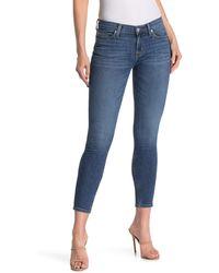 Hudson Jeans Krista Cropped Skinny Jeans - Blue