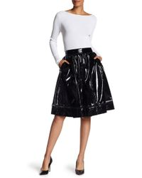 Alice + Olivia - Misty Pantent Leather Skirt - Lyst