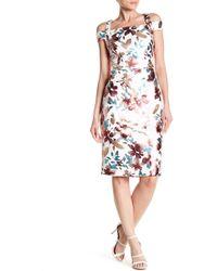 Eci - Cold Shoulder Print Dress - Lyst