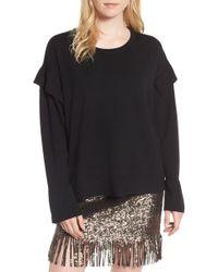 Bardot - Ruffle Sweater - Lyst
