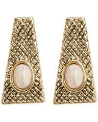 House of Harlow 1960 - Tanta Crosshatch Stud Earrings - Lyst