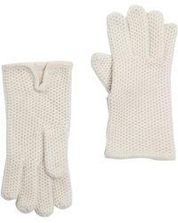 Portolano - Cashmere Honeycomb Gloves - Lyst