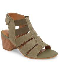 Comfortiva Alexis Suede Block Heel Sandal - Green