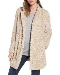 Kenneth Cole - Faux Fur Coat (regular & Petite) - Lyst