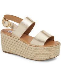 Steve Madden - Cali Espadrille Platform Sandal (women) - Lyst