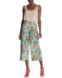 Eci Knit Floral Pants - Blue