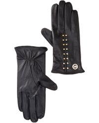 Michael Kors - Astor Studded Leather Gloves - Lyst