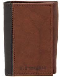 Ben Sherman - Colorblock Leather Wallet - Lyst