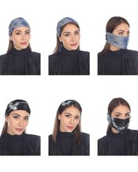 Boho Me 3-in-1 Adult Face Mask/headband/scarf - Blue