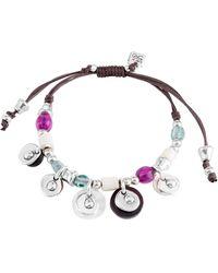 Uno De 50 - Nefriti Beaded Charm Leather Bracelet - Lyst
