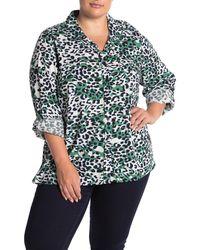 Beach Lunch Lounge Caroline Print Shirt - Green