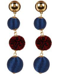 Rebecca Minkoff - Threaded Pompom Drop Earrings - Lyst