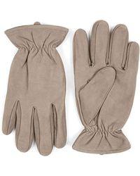 TOPMAN - Nubuck Leather Gloves - Lyst