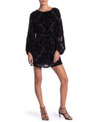 Yumi Kim Bellflower Flocked Velvet Dress - Black