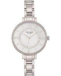Kate Spade - Women's Gramercy Crystal Bezel Bracelet Watch - Lyst