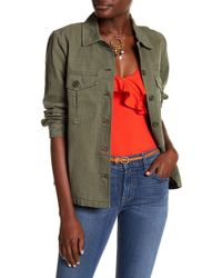 Pistola Axel Embroidered Shirt Jacket - Green