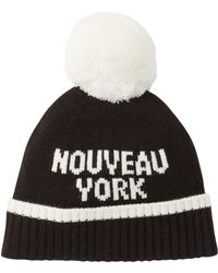 425b0780584 Kate Spade - Nouveau York Merino Wool Pompom Beanie - Lyst