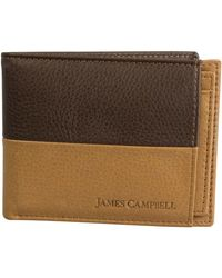 James Campbell - Leather Passcase Wallet - Lyst