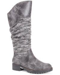 Muk Luks Kailee Tall Boot - Gray