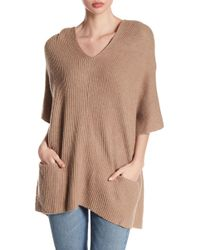Fate - Knit Hooded Poncho - Lyst