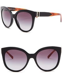 2be0185fc151 Lyst - Burberry 54mm Round Sunglasses in Black