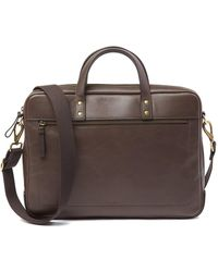 Fossil - Haskell Leather Briefcase - Lyst