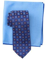 Ted Baker Silk Gradient Square Tie & Pocket Square Set - Blue
