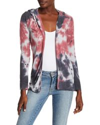 Go Couture - Tie Dye Hooded Knit Cardigan - Lyst