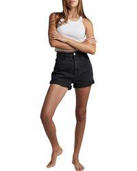 Cotton On High Rise Classic Stretch Denim Shorts - Black