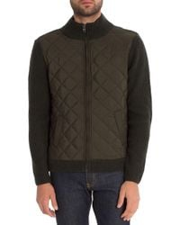 7 Diamonds - Gatti Quilted Panel Lambswool Knit Jacket - Lyst