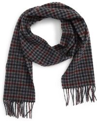 Barbour - Houghton Check Wool Scarf - Lyst