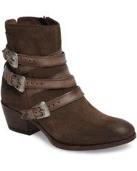 Miz Mooz - Darien Buckled Leather Boot - Lyst