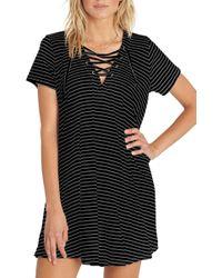 Billabong - Long Ago Lace-up T-shirt Dress - Lyst