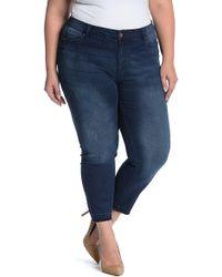 Workshop Relaxed Hem Modern Ankle Skinny Jeans (plus Size) - Blue