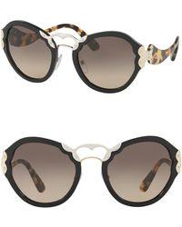 Prada - Irregular Catwalk 54mm Sunglasses - Lyst