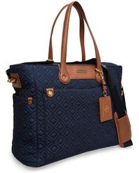 Adrienne Vittadini - Quilted Nylon Laptop Travel Tote - Lyst