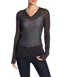 INHABIT - V-neck Knit Sweater - Lyst