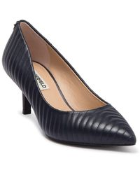 Karl Lagerfeld Rosette Quilted Pointed Toe Pump - Blue