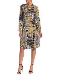Nanette Lepore Printed Henley Shirt Dress - Multicolour