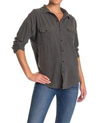 Bliss and Mischief Johnna Long Sleeve Pocket Shirt - Black