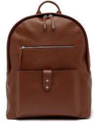 Cole Haan - Saunders Leather Zip Top Backpack - Lyst